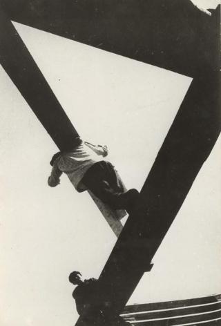 Boris Ignatovich With a Board, 1929
