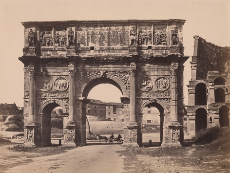 Unknown photographer, Arch of Constantine, Rome, c. 1865