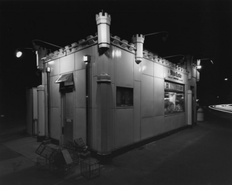 George Tice White Castle, Route #1, Rahway, New Jersey, 1973