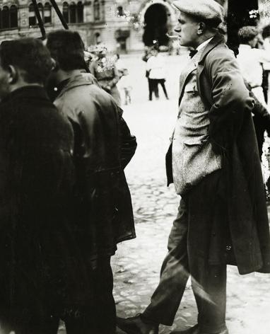 Vladimir Mayakovsky on Red Square,May 1, 1928, Gelatin silver print mounted on board