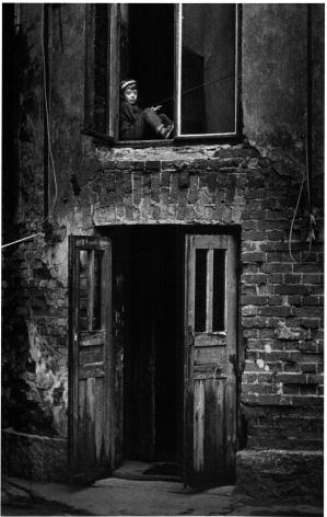 Helsinki, Finland (boy in window), 1965, Gelatin silver print