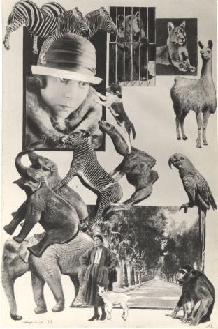 Unpublished photomontage for Vladimir Mayakovsky'sAbout This, 1923, Gelatin silver print