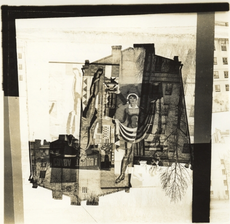 Untitled (Workerwoman), 1987, Unique gelatin silver photomontage with bleaching and toning