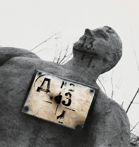 Untitled (statue with numbers) from the series Nomenclature of Signs, 1986-1991