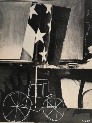 Steve Wilson, Untitled love letter (carriage and flag), 07/30/05