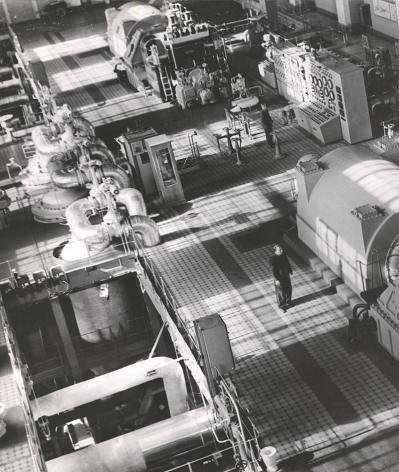 New Thermal Power Station. Machine Room,1950s, Vintage gelatin silver print