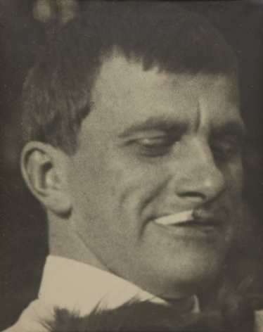 Portrait of Mayakovsky with Scottie, 1924, Vintage gelatin silver print