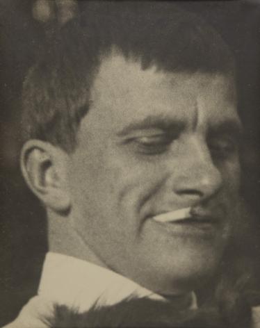 Portrait of Mayakovsky with Scottie, 1924