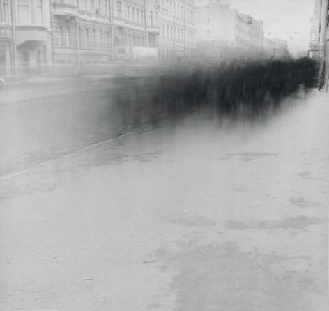 Alexey Titarenko (b. 1962, St. Petersburg), Crowd on Sredniy Prospect (Crowd 3), St. Petersburg, 1992
