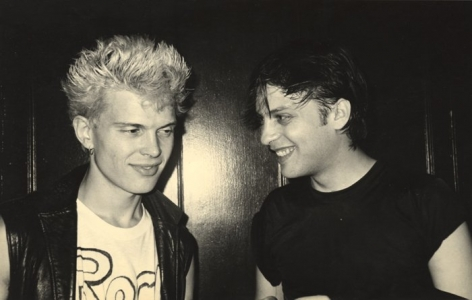 Singer Billy Idol and stylist Ricky, early 1980s