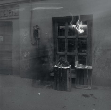 Pensioner Selling Parsley, St. Petersburg, 1992