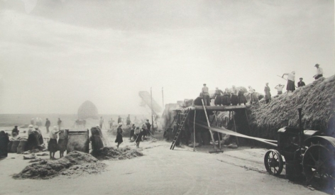 Threshing Season, Moldova, 1939-1940, Gelatin silver print