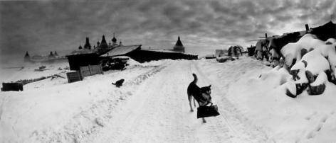 Pentti Sammallahti Solovki, White Sea, Russia (dog with bag), 1992