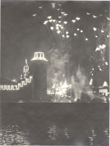 Moscow Fireworks, 1940s, Vintage gelatin silver print