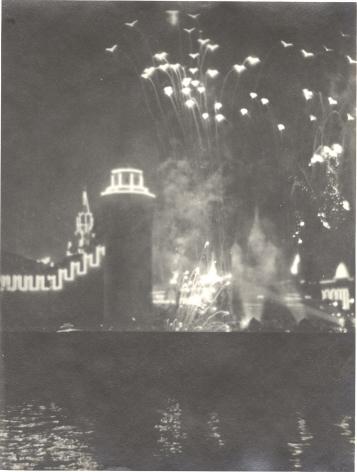 Moscow Fireworks,1940s, Vintage gelatin silver print