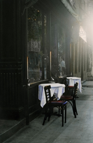 Raoul's, New York, 1992, Gelatin silver print with applied oil paint