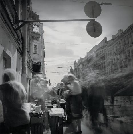 Street Market, St. Petersburg, 1995, Toned gelatin silver print