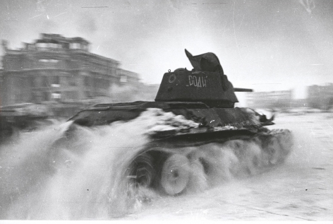 Georgy Zelma, Tank attack, Stalingrad, 1940s