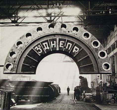 At the Leningrad Metallurgical Plant,c. late 1930s, Gelatin silver print