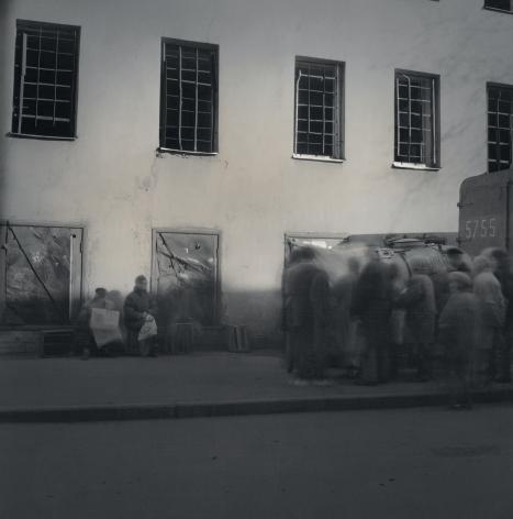 Line to Buy Milk Outside Prison, St. Petersburg, 1999