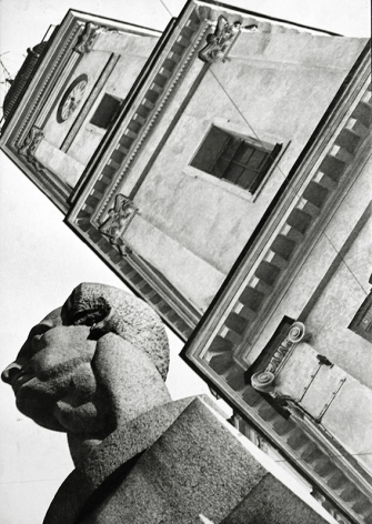Monument to Ferdinand Lassalle, Leningrad, 1930, Gelatin silver print mounted on board