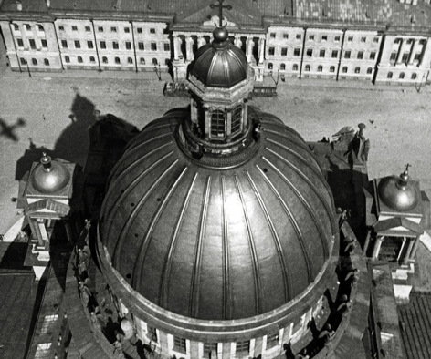 St. Isaac's Cathedral, Leningrad, 1931, Gelatin silver print mounted on board
