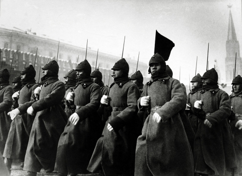 Parade on Red Square, Moscow, May 1,1926, Gelatin silver print mounted on board