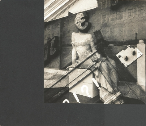 ?!, 1988 Unique vintage gelatin silver photomontage