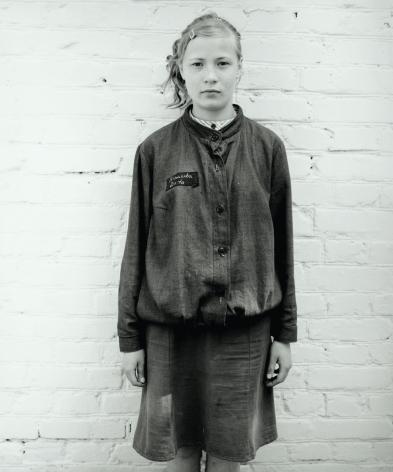 Blond girl in juvenile prison, Russia, 2003