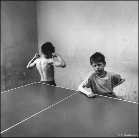 Two Boys at the Ping-Pong Table, Ozerki Orphanage, 1994