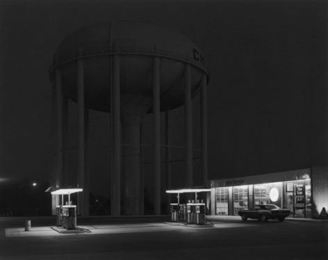 George Tice Petit's Mobil Station, Cherry HIll, New Jersey,1974