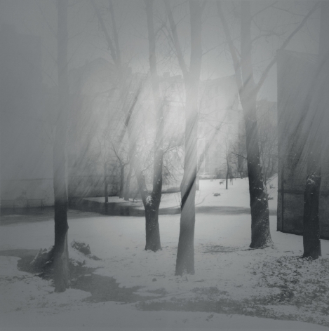 A Gloomy Morning on Tarakanovskaya Street, St. Petersburg, 1996, Toned gelatin silver print