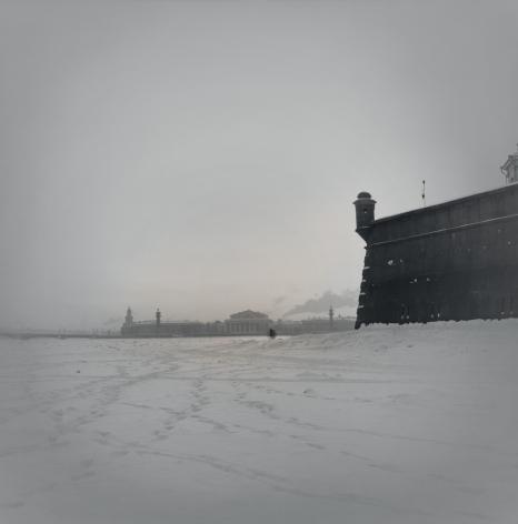 Frozen Neva River Near Peter and Paul Fortress, St. Petersburg, 1996
