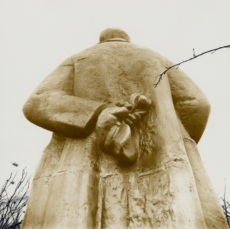 Untitled (the back of the sculpture of Lenin), c. 1986-1988, Vintage sepia-toned gelatin silver print