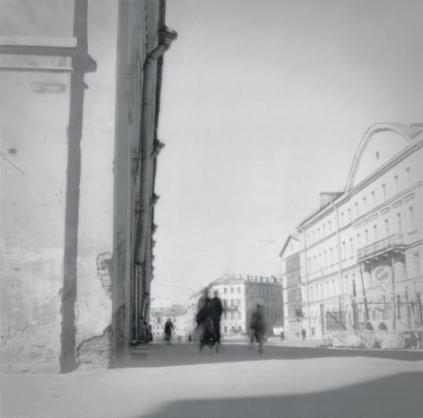 Street Corner, St. Petersburg, 1994, Toned gelatin silver print