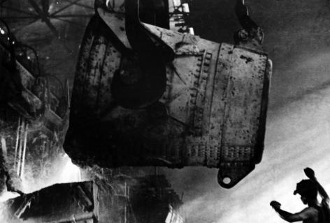 Pig-Iron Pouring, Azovstal Metallurgy Works, Mauripol', Ukraine, 1937