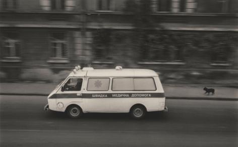 Odessa, Ukraine (Dog and ambulance), 2004, Gelatin silver print