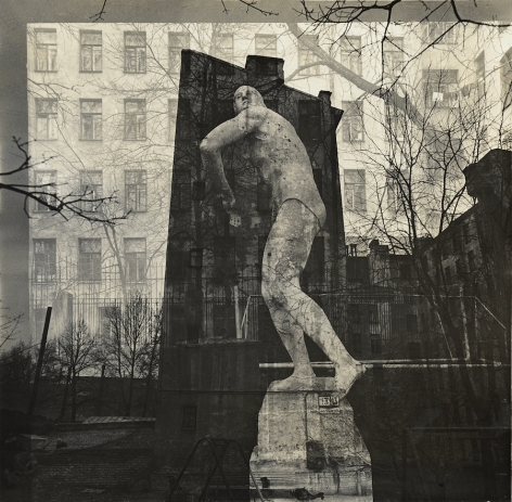 Windows with discus thrower, 1986-88