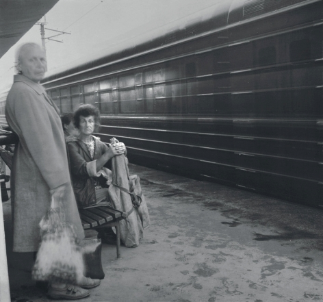 Kuptchino Railway Station, St. Petersburg, 1993, Toned gelatin silver print