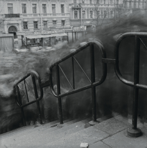 Vasileostrovskaya Metro Station (Crowd 2), St. Petersburg, 1992