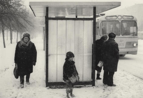 Moscow, Russia (Bus Stop),1980, Gelatin silver print