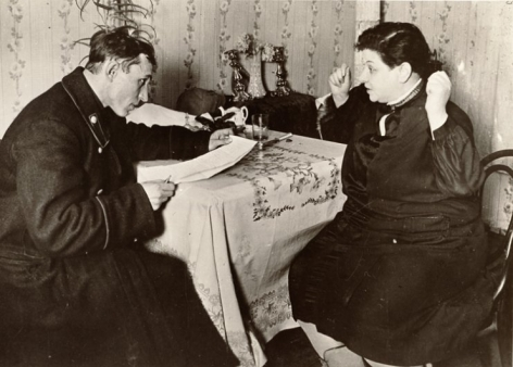 """""""Tax Inspector Visits NEP Woman,"""" 1928"""