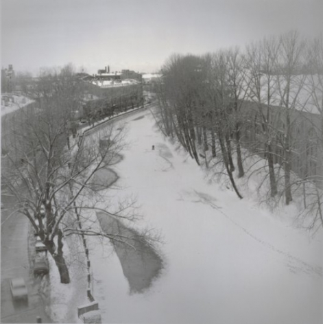Winter Fishing on Griboedov Canal, St. Petersburg, 1997, Toned gelatin silver print