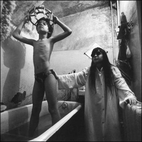 Masha(In the bathroom),1996, Gelatin silver print