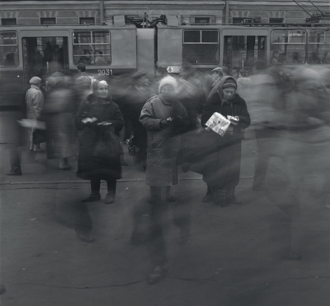 Three Pensioners Selling Contraband Cigarettes, St. Petersburg, 1992