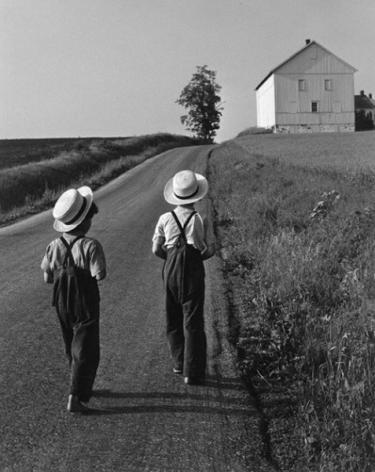 George Tice, Two Amish Boys, Lancaster, Pennsylvania