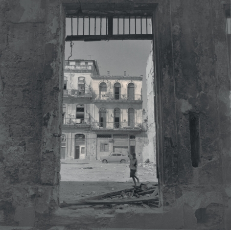 Boy by a Ruined House, Havana, 2003