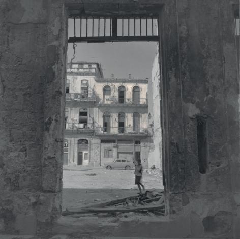Boy by a Ruined House, Havana, 2003