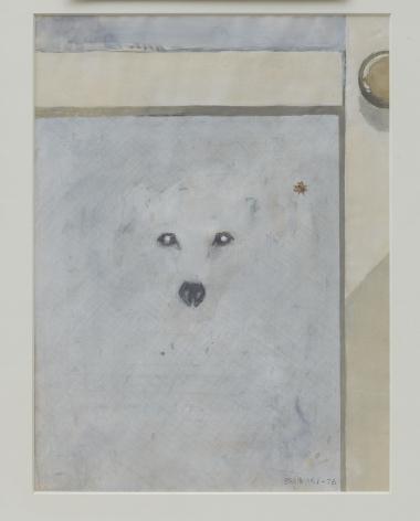 Joe Brainard, Untitled (White Dog), 1978