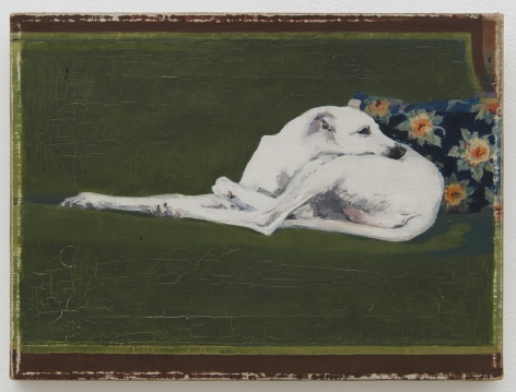 Joe Brainard, Untitled (Whippet on Green Couch), 1973